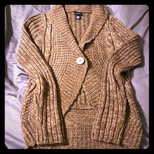 Rue 21 Brown Knit Cocoon Sweater Size XL